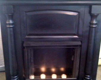 Black Faux Fireplace