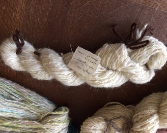 Hand spun 2 ply yarn.