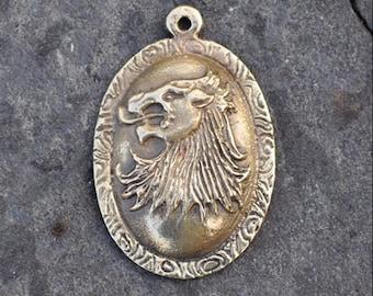 Cersei Lannister inspired brass pendant