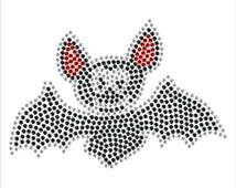Bat Diamante Motif