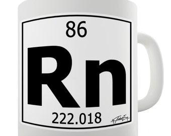 Periodic Table Of Elements Rn Radon Ceramic Tea Mug