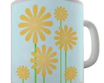 Yellow Flower Ceramic Funny Mug