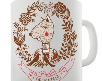 Delightful Fox Ceramic Novelty Mug