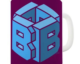 Letter B Alphabet Ceramic Tea Mug