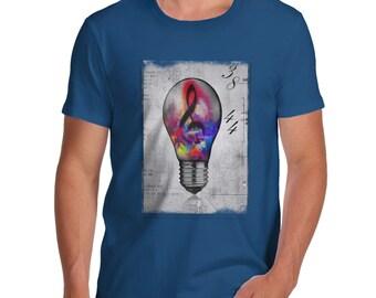Men's Musical Lightbulb T-Shirt
