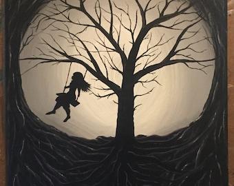 Girl On A Swing-Acrylic Print