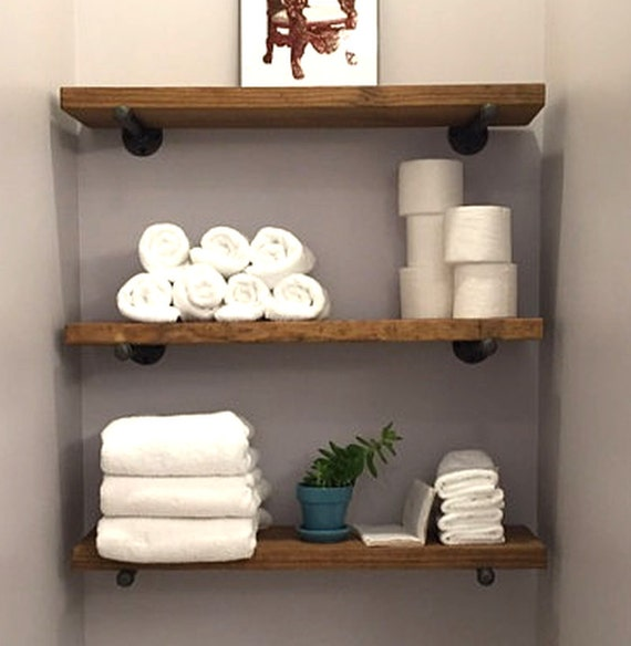 8 depth industrial floating shelf rustic wall shelves - Floating shelf ideas for bathroom ...
