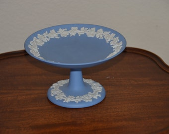 Wedgwood blue compote
