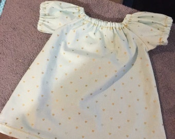 3-6 month mint with hearts dress