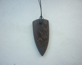 Wood pendant from wenge