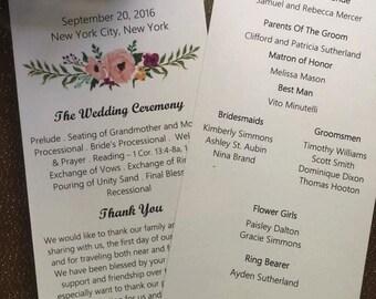 50% OFF W/ CODE welcome5 --Wedding Programs--