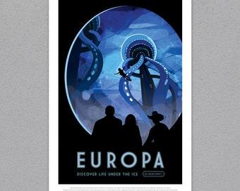 Europa - Nasa JPL Poster