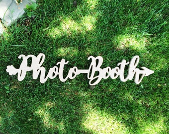 Wedding Reception Photo Booth Wooden Sign