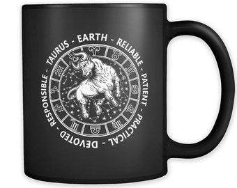 TAURUS Zodiac Sign Mantra MUG