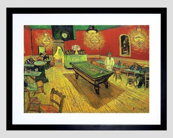 Painting Van Gogh Night Cafe 1888 Old Master Art Print Poster FE2983OM
