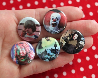 Stephen King Films - pack of 5 one inch pins