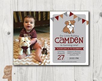 Birthday invitation - Mississippi State Little Bulldog
