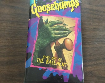 Vintage 1990s Goosebumps VHS. Stay Out of the Basement. Fox Home. Horror, kids, cult, kitsch.