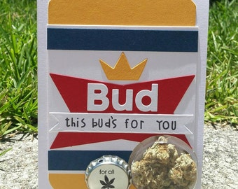 This Buds For You - Thank You Cannabis Greeting Card
