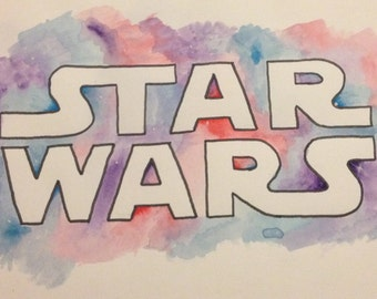 STAR WARS Watercolour Print
