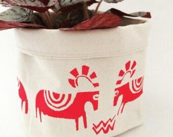 "plant cozy soft storage canvas bag 6"""
