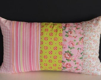 Patchwork Cushion in Pastels