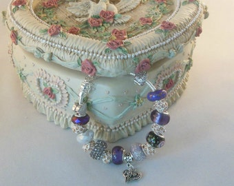 European Style Bracelet By Lettie Vintage Purple