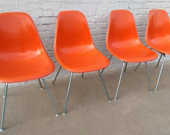 Herman Miller mid century modern shell chairs