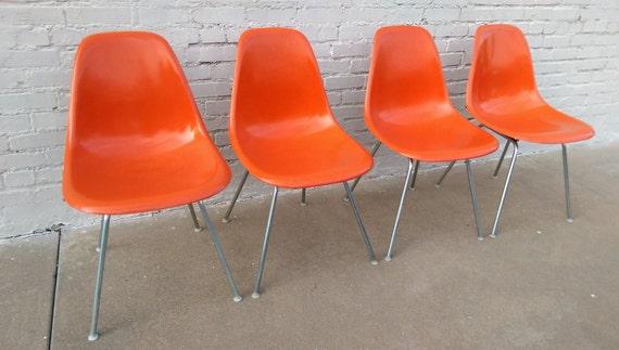 Herman Miller mid century modern shell chairs
