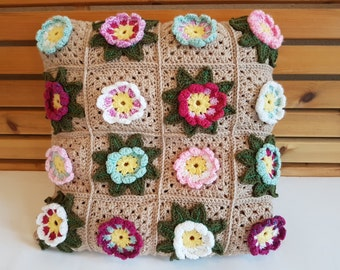 Waterflower Squares Cushion Cover 45cm x 45cm