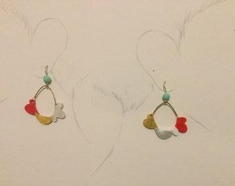 A 3 bird Earring