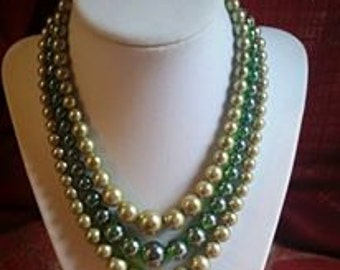 Vintage triple strand necklace