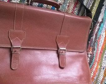 Vintage Real Leather Satchel