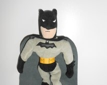 "1999 BATMAN 10"" Plush Bean Bag Doll Warner Bros. Studio Store Exclusive"