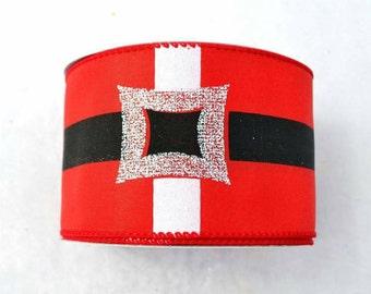 "2.5"" X 10yd Wired Belt Buckle Ribbon"
