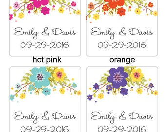 Personalized Floral Photo Booth Backdrop (FJM567278-BD)