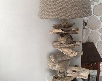 Driftwood lamp handmade