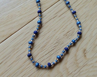 Blue, Egyptian necklace