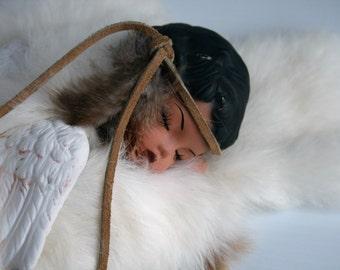 Vintage Porcelain Native American Sleeping Angel