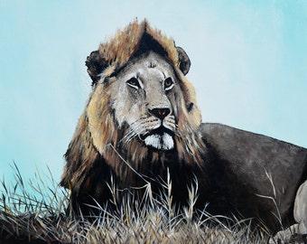 "Lion painting 24""x 30"""