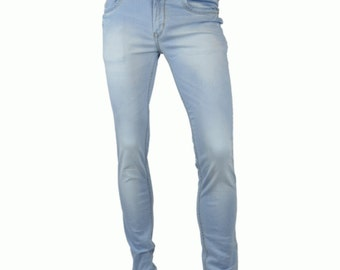 Cougar paws Light blue men's Denim  jeans