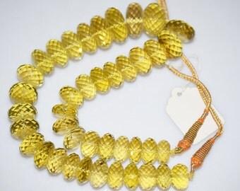 """1165 Cts.Beautiful Natural Lemon Quartz Rondelle Faceted Beads Necklace-Lemon Quartz Rondelle Faceted Necklace,14.50-25 mm, 16""""-NL113"""
