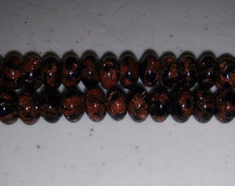 SALE! Sandstone beads blue sandstone gold sandstone goldstone beads blue goldstone rondelle beads 6x10mm beads