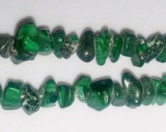 SALE! Malachite chip beads chip beads malachite chips green stone beads green chip beads semiprecious stone semiprecious beads malachite