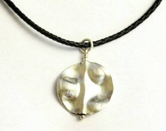 Necklace -- 925 silver disc shape