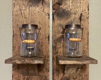 Wooden Sconce, Rustic, Wedding, Chic, Sconce
