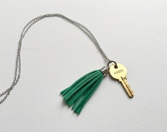 Long & Delicate Suede Tassel Necklace