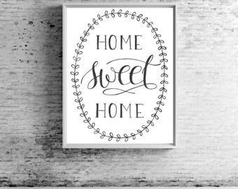 Home Sweet Home Print | Wall Print | Home Decor | Rustic Decor | Southern Decor