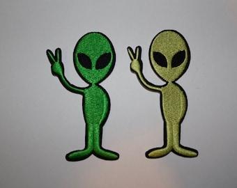 Alien Iron On Patch