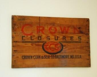 Crown Cork Crate Wall Decor